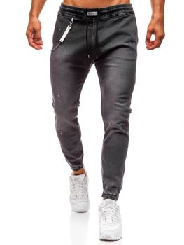 Antracitové pánské džínové baggy kalhoty Bolf 2040