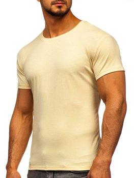 Béžové tričko bez potisku Bolf 2005