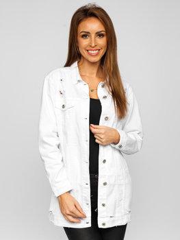 Bílá dámská džínová bunda Bolf WL1743-10