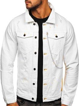 Bílá pánská džínová bunda Bolf 3-4