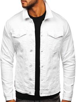 Bílá pánská džínová bunda Bolf G039