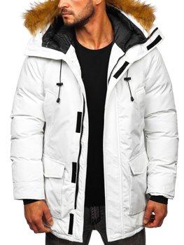 Bílá pánská zimní bunda Bolf parka 1173
