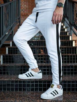 Bílé pánské jogger tepláky Bolf 11120