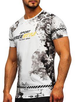Bílé pánské tričko s potiskem Bolf SS11003