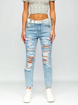 Blankytné pánské džíny s páskem Bolf BS502