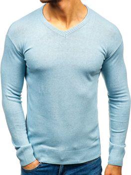 Blankytný pánský svetr s výstřihem do V Bolf 6002 9ef238cf4c