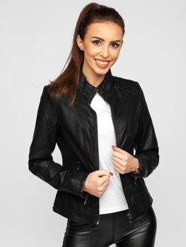 Černá dámská koženková bunda Bolf 20R8