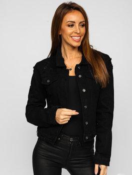 Černá dámská krátká džínová bunda Bolf WL1746-1