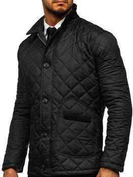 Černá pánská elegantní přechodová husky bunda Bolf 0003