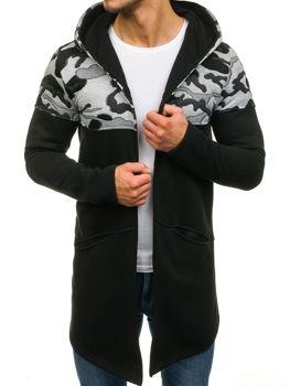 Černá pánská mikina s kapucí Bolf 9117