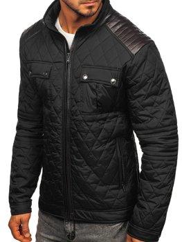 Černá pánská přechodová bunda Bolf K007