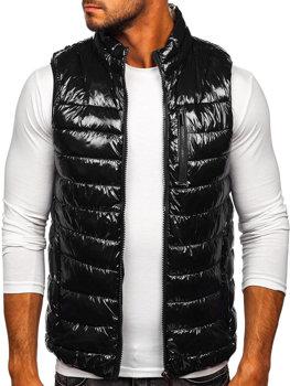 Černá pánská prošívaná vesta Bolf R0109A