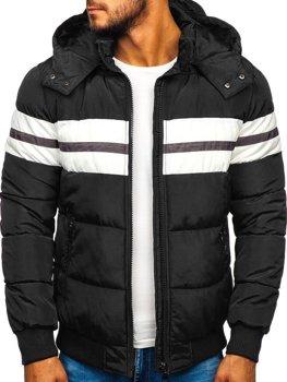 Černá pánská sportovní zimní bunda Bolf JK397