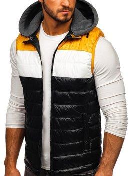 Černá pánská vesta s kapucí Bolf 6105