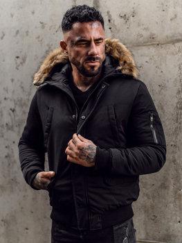 Černá pánská zimní bunda Bolf 2019