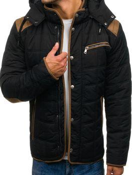 Černá pánská zimní bunda Bolf 3087