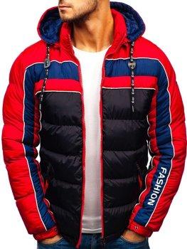 Černá pánská zimní bunda Bolf A429