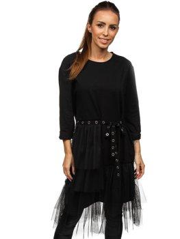 Černé dámské šaty s potiskem Bolf 30655