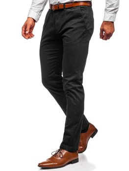 Černé pánské chino kalhoty Bolf 1143
