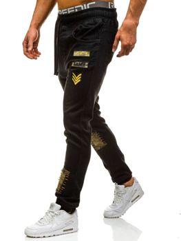 Černé pánské džínové jogger kahoty Bolf 0806