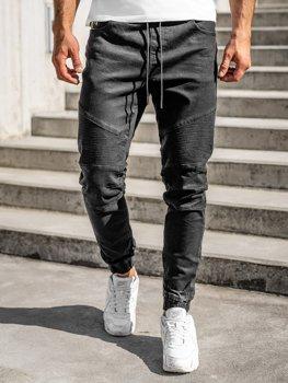 Černé pánské džínové jogger kahoty Bolf 61016W0