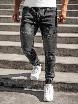 Černé pánské džínové jogger kahoty Bolf R31001W0