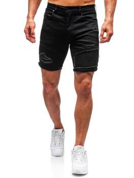Černé pánské džínové kraťasy Bolf T390