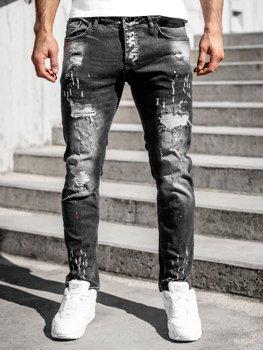 Černé pánské džíny regular fit Bolf R912