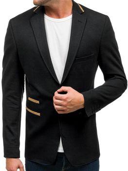Černé pánské elegantní sako Bolf 9400