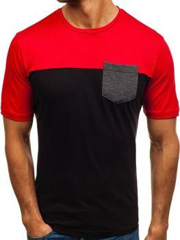 Černé pánské tričko s potiskem Bolf 6309