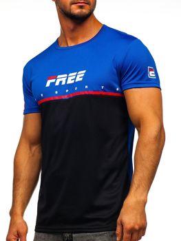 Černé pánské tričko s potiskem Bolf SS10996