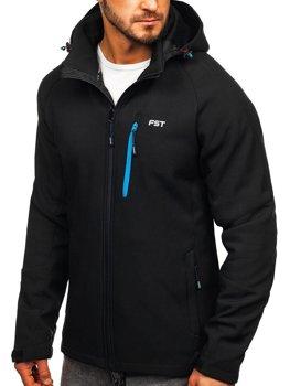 ?erno-modrá pánská softshellová bunda Bolf 107A