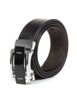 Černý pánský kožený opásek Bolf P013