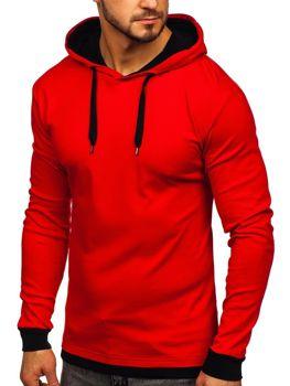 Červená pánská mikina s kapucí Bolf 145380