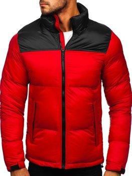 Červená pánská prošívaná zimní bunda Bolf 1186