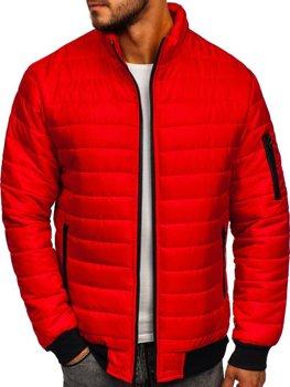 Červená pánská sportovní přechodová bunda Bolf MY22