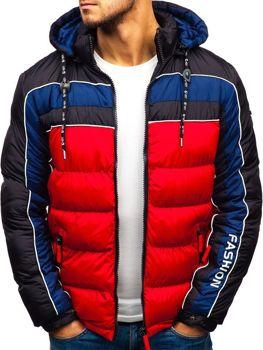 fca7f683149 Červená pánská zimní bunda Bolf A429