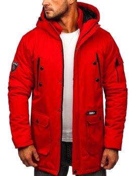 Červená pánská zimní bunda Bolf HY827
