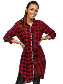Červené dámské kárované šaty Bolf 6614