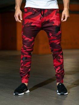 Červené pánské maskáčové kalhoty Bolf 0829