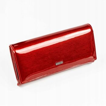 Dámská červená kožená peněženka 887