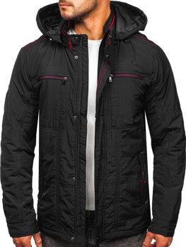 Grafitová pánská přechodová bunda s kapucí Bolf BK026