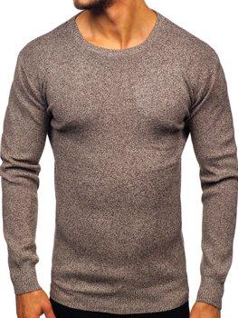 Hnědý pánský svetr Bolf 8529