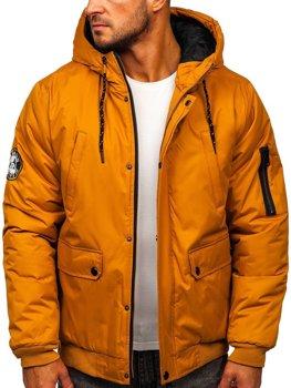 Kamelová pánská zimní bunda Bolf HY821