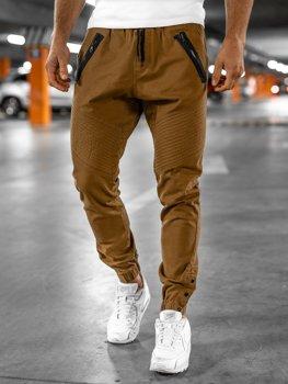 Kamelové pánské jogger kalhoty Bolf 0952
