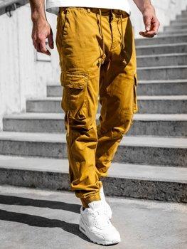 Kamelové pánské jogger kapsáče Bolf 8956