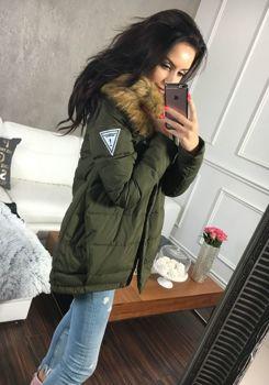 Khaki dámská zimní bunda Bolf 8062