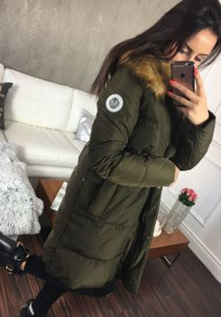 Khaki dámská zimní bunda Bolf 8063