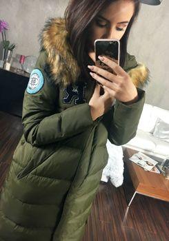 Khaki dámský zimní kabát Bolf 8067
