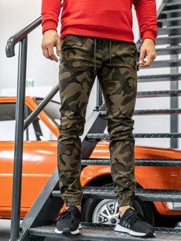 Khaki pánské maskáčové jogger kalhoty Bolf KA351